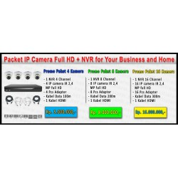 Paket Full HD Acesee IP Camera  2.4 Mega Pixel 4 Channel